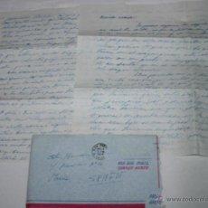 Documentos antiguos: CARTA DE SOLDADO DESDE EL BUQUE DRAGAMINAS LLOBREGAT EN SAN DIEGO CALIFORNIA A SU NOVIA EN 1954. Lote 48564873