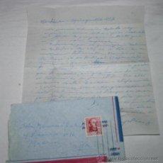 Documentos antiguos: CARTA DE SOLDADO DESDE WESTOVER SPRINGVILLE USA A SU NOVIA EN 1954 CONTANDOLE SU VIAJE. Lote 48564968