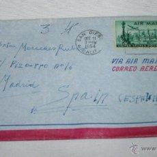 Documentos antiguos: SOBRE VACIO DE CARTA DESDE EL BUQUE DRAGAMINAS LLOBREGAT EN SAN DIEGO CALIFORNIA EN 1954 A MADRID. Lote 48565864