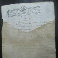 Documentos antiguos: TIMBRADO PAPEL FISCAL SELLO CUARTO CUARENTA MARAVEDIS AÑO 1821. Lote 48570840