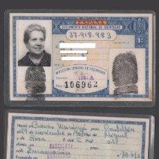 Documentos antiguos: DNI 37.918.983 - C10-2 - CARNET DE IDENTIDAD EXPEDIDO EN BARCELONA EL 25-AGO-1971 - PERTENECIENTE. Lote 48594749