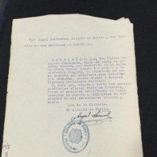 Documentos antiguos: CERTIFICADO DE BUENA CONDUCTA MURCIA - ALCALDIA DE BARRIO SAN BARTOLOME 1939 . Lote 48663614
