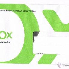 Documentos antiguos: SOBRE SIN ABRIR CERRADO PARTIDO POLÍTICO VOX ELECCIONES AUTONÓMICAS ANDALUCÍA 2015. Lote 48855648