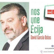 Documentos antiguos: FOLLETO ELECTORAL PARTIDO POLÍTICO SOCIALISTA PSOE ÉCIJA ELECCIONES MUNICIPALES 2015 RARO CURIOSO. Lote 48855774