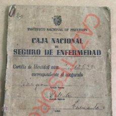 Documentos antiguos: CAJA NACIONAL DE SEGURO DE ENFERMEDAD MURCIA 1944. Lote 48984970