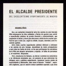 Documentos antiguos: TIERNO GALVAN, ENRIQUE: BANDOS DEL ALCALDE PRESIDENTE DEL EXMO. AYTO. DE MADRID. AÑOS 1979 A 1983. Lote 49057167