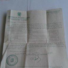 Documentos antiguos: ANTIGUO DOCUMENTO DEL MINISTERIO DE EDUACION Y CIENCIA CONCEDIENDO BECA CREDENCIAL DE BECARIO 1978. Lote 49116648