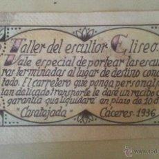 Documentos antiguos: VALE, CÁCERES 1936, COPIA. Lote 49208791
