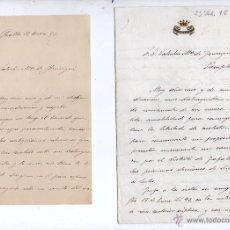 Documentos antiguos: DOS ESCRITOS FIRMADOS POR EL MARQUÉS DE MONTESA Y DIRIGIDOS AL POLÍTICO VALENTÍN Mª DE JÁUREGUI.. Lote 49214633