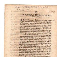 Documentos antiguos: PASE FORAL SOBRE REAL CEDULA SOBRE CUIDADO DE NIÑOS EXPOSITOS. VITORIA. AÑO 1787. Lote 49230647