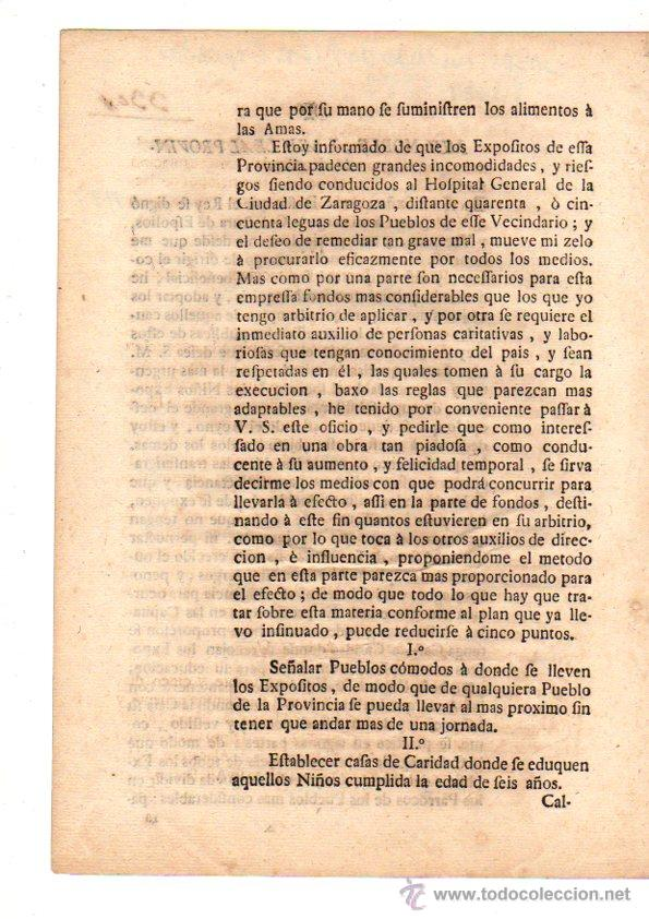 Documentos antiguos: PASE FORAL SOBRE REAL CEDULA SOBRE CUIDADO DE NIÑOS EXPOSITOS. VITORIA. AÑO 1787 - Foto 2 - 49230647