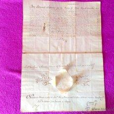 Documentos antiguos: DOCUMENTO, TITULO, REAL NOTARIO PUBLICO DE ESPAÑA, REY FERNANDO VII, 1819, FRANCISCO FEU Y ANCIO. Lote 49244318