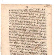 Documentos antiguos: PASE FORAL SOBRE ARBITRIOS VITORIA. ALAVA. AÑO 1785. Lote 49244559