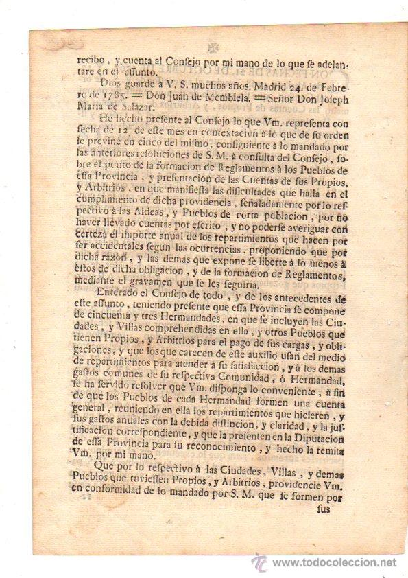 Documentos antiguos: PASE FORAL SOBRE ARBITRIOS VITORIA. ALAVA. AÑO 1785 - Foto 2 - 49244559