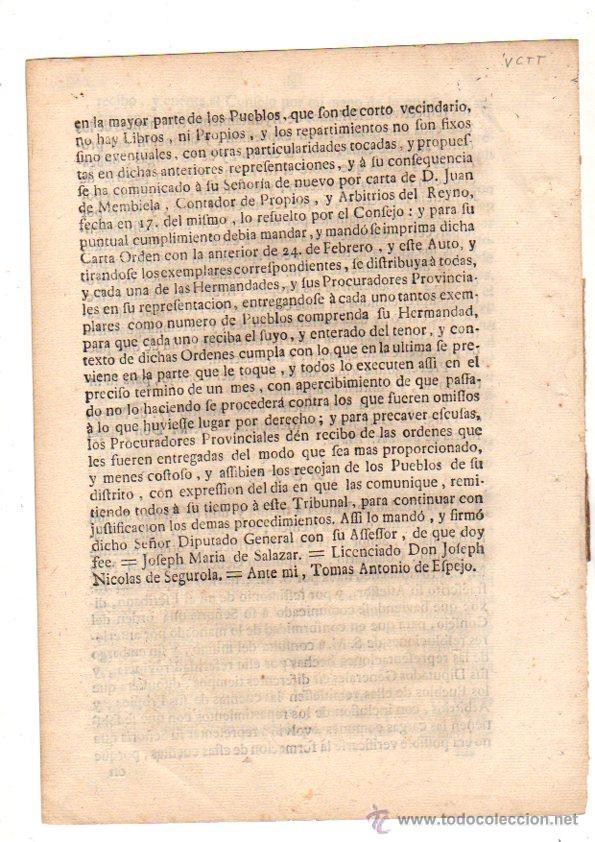Documentos antiguos: PASE FORAL SOBRE ARBITRIOS VITORIA. ALAVA. AÑO 1785 - Foto 4 - 49244559