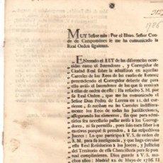 Documentos antiguos: PASE FORAL SOBRE ADMISION DE REOS EN LAS CARCELES. VITORIA, ALAVA. AÑO 1786. Lote 49244635