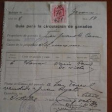 Documentos antiguos: 1948 ARGELAGUER (GERONA). GUIA PARA LA CIRCULACION DE GANADOS DEL AYUNTAMIENTO. Lote 49298568