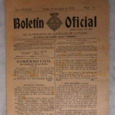 Documentos antiguos: BOLETIN OFICIAL DE LA PROVINCIA DE CASTELLON DE LA PLANA N º 71 -16 DE JUNIO1970. Lote 49343060