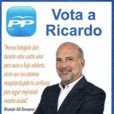 Documentos antiguos: FOLLETO ELECTORAL PARTIDO POLÍTICO PARTIDO POPULAR PP ELECCIONES MUNICIPALES ÉCIJA MAYO 2015. Lote 49450172