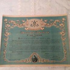 Documentos antiguos: DIPLOMA DE INDULGENCIAS DE INMACULADA CONCEPCIÓN Y SAN LUIS GONZAGA. Lote 49463448
