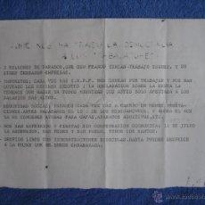 Documentos antiguos: OCTAVILLA DE FUERZA JOVEN. CENTURIA LABORAL TTE. GRAL. GÓMEZ HORTIGÜELA. Lote 49487954