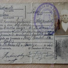 Documentos antiguos: CARNET DE IDENTIDAD PROVISIONAL. 1946. Lote 49670261