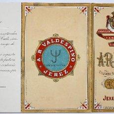 Documentos antiguos: LISTADO DE PRECIOS VINOS A.R. VALDESPINO. JEREZ DE LA FRONTERA. CIRCA 1920. Lote 49841068