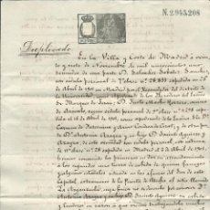 Documents Anciens: 1901 CONTRATO ALQUILER DE FINCA EN MADRID LA ARGANZUELA PAPEL TIMBRADO 10 CENTIMOS. Lote 49895525