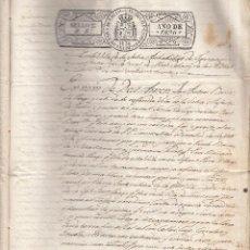 Documentos antiguos: ESCRITURA DE LA SELVA DEL CAMP AÑOS 1836-1851-1864. Lote 49922919