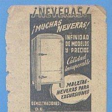 Documentos antiguos: RECORTE PUBLICIDAD F BISQUERRA BOTINAS. PHILIPS RADIO. NEVERAS. PALMA MALLORCA 11,5 X 7,5CM AÑO 1951. Lote 49932069