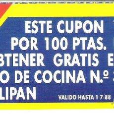 Documentos antiguos: 1 ANTIGUO VALE O CUPON REGALO AÑOS 80 MARGARINA O MANTEQUILLA TULIPAN. Lote 50060402