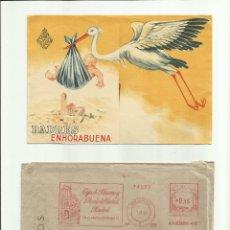 Documentos antiguos: IMPRESOS PARA RECOGER LA CARTILLA DEL RECIÉN NACIDO EN 1955 *OPORTUNIDAD COLECCIÓN*. Lote 50233888
