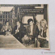 Documentos antiguos: RECORTE DE REVISTA GRACIELA. TDKP3 . Lote 50257488