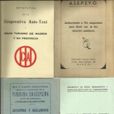 Documentos antiguos: LOTE ANTIGUO DE ESTATUTOS Y REGLAMENTOS DIVERSOS *VINTAGE GENUINO XX*. Lote 50339066