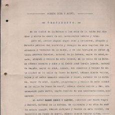 Documentos antiguos: CAR-MUS - HABANA (CUBA) - COPIA SIMPLE DE UN TESTAMENTO DEL MEDICO CIRUJANO D. RAMON NEGRE Y MANCIO . Lote 50485773