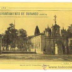Documentos antiguos: PROGRAMA DE FESTEJOS SAN ANTONIO. AYUNTAMIENTO DE DURANGO. YURRETA. BIZKAIA. AÑO 1928. Lote 50594359