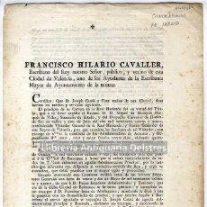 Documentos antiguos: CAVALLER, FRANCISCO HILARIO. [CONTRABANDO DE TABACO]. CERTIFICO: QUE D. JOSEPH CATALÁ... 1796. . Lote 50632233