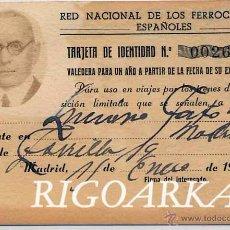 Documentos antiguos: RED NACIONAL DE LOS FERROCARRILES ESPAÑOLES-AÑO 1944. Lote 50698483