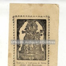Documentos antigos: [ESTAMPA S.XVIII. VIRGEN DE LOS DESAMPARADOS] CONFRARES Y CONFRARESAS, S.XVIII. . Lote 50744329