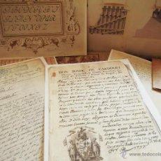 Documentos antiguos: CARPETA CON DOCUMENTOS SINGULARES FACSIMILES ARCHIVO DIPUTACION ZARAGOZA, IDEALES PARA ENMARCAR. Lote 50767688