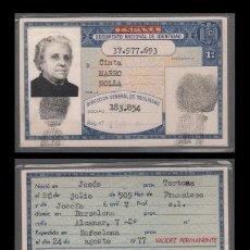 Documentos antiguos: DNI 37.977.693 - C10-2 - CARNET DE IDENTIDAD EXPEDIDO EN BARCELONA EL 24-AGOSTO-1977 - PERTENECIE. Lote 50831780