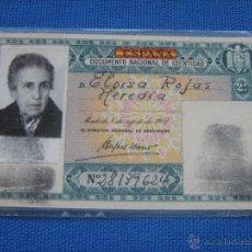 Documentos antiguos: DNI - DOCUMENTO NACIONAL DE IDENTIDAD - EXPEDIDO EN SEVILLA EN 1955 - COLOR VERDE - RARO. Lote 50842373