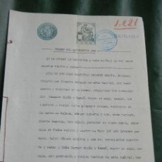 Documentos antiguos: DOCUMENTO NOTARIAL PODER NOTARIA DE JUAN FRANCISCO SANCHEZ GARCIA, BARCELONA, 1925. Lote 50859634