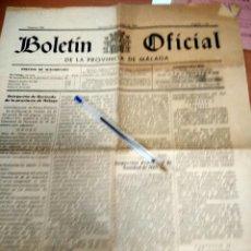 Documentos antiguos: ANTIGUO BOLETIN OFICIAL PROVINCIA MALAGA DE LA REPUBLICA 1933 Y DE 1 ENERO 1957. Lote 50877171