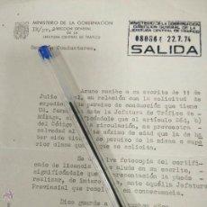 Documentos antiguos: CERTIFICADO DE 1974 EXPEDICIÓN PERMISO DE CONDUCCION. Lote 50877209