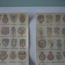 Documentos antiguos: LOTE DOS SERIES CALCOMANAS ORTEGA AÑO 1973. EQUIPOS DE FUTBOL. IMPECABLES. CONSERVAN PAPEL DE ARROZ. Lote 50997727