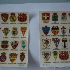 Documentos antiguos: LOTE DOS SERIES CALCOMANÍAS ORTEGA AÑO 1973. EQUIPOS DE FUTBOL. IMPECABLE.. Lote 50997760