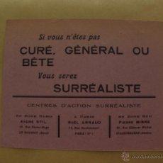 Documentos antiguos: MANIFIESTO SURREALISMO NOEL ARNAUD, FRANCIA 1943, DOCUMENTO 2ª GUERRA MUNDIAL WWII. Lote 51011017
