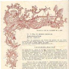 Documentos antiguos: CARTA NOMBRAMIENTO FALLERO MAYOR VALENCIA. AÑO 1948. Lote 51062306