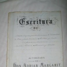 Documentos antiguos: ESCRITURA DE VENTA 1883 BARCELONA. Lote 51146398